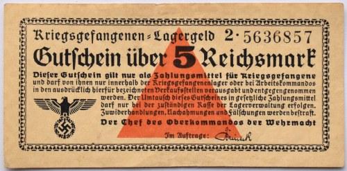 Uniwersalny Bon Obozowy, Kriegsgefangenen- Lagergeld, 5 marek