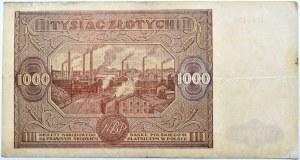 Polska, RP, 1000 złotych 1946, seria S, Warszawa