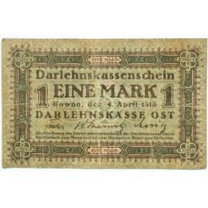 Polska/Niemcy, Kowno 1 marka 1918 OST, seria D