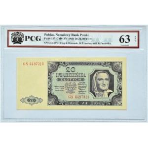 Polska, RP, 20 złotych 1948, seria GS, PCG 63 EPQ