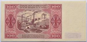 Polska, RP, 100 złotych 1948, seria U, przepiękne!