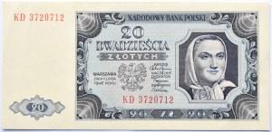 Polska, RP, 20 złotych 1948, seria KD