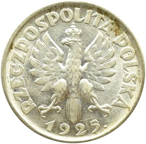 Polska, II RP, Kłosy, 1 złoty 1925, Londyn, piękne!