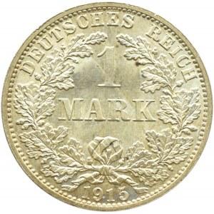 Niemcy, Prusy, 1 marka 1915 A, Berlin, wybitny menniczy egzemplarz