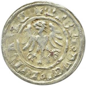 Aleksander I Jagiellończyk, półgrosz litewski, Wilno, napisy gotyckie