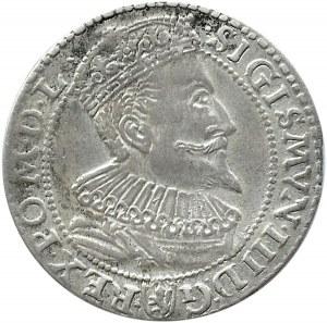 Zygmunt III Waza, szóstak 1596, Malbork, mała głowa