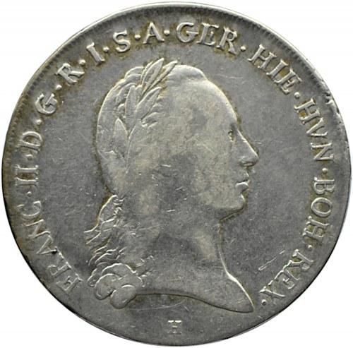 Austria, Franciszek II, 1 talar 1795 H, Günzburg
