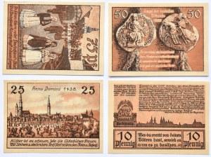 Leobschütz, Głubczyce, lot 4 notgeldów ważne do 1922