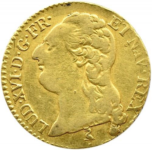 Francja, Ludwik XVI Wielki, luis d`or au buste nu 1786 A, Paryż