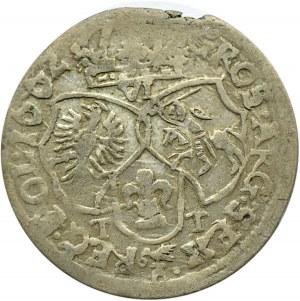 Jan II Kazimierz, szóstak 1662 TT, Bydgoszcz, odmiana bez obwódek