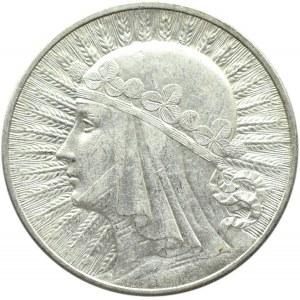 Polska, II RP, Głowa kobiety, 10 złotych 1932, bez znaku mennicy, Warszawa