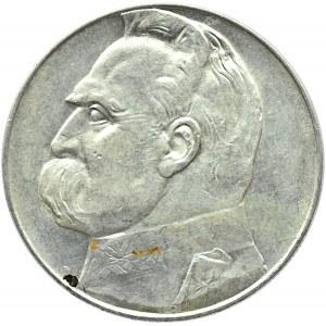 Polska, II RP, Józef Piłsudski, 10 złotych 1936, Warszawa, ładny