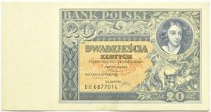 Polska, II RP, 20 złotych 1931, seria DH, Warszawa, piękne