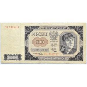 Polska, RP, 500 złotych 1948, seria CD, Warszawa