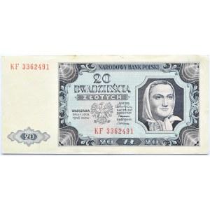 Polska, RP, 20 złotych 1948, seria KF