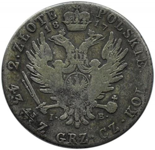 Aleksander I, 2 złote 1817 I.B., Warszawa