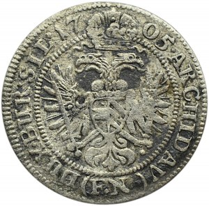 Śląsk, Leopold, 3 krajcary 1705 FN, Opole