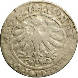 Zygmunt I Stary, grosz 1527, Kraków, odmiana POLONIP