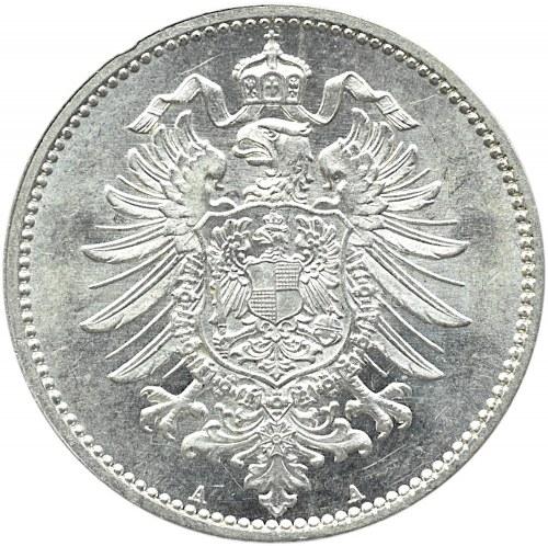 Niemcy, Prusy, 1 marka 1876 A, Berlin, wybitny menniczy egzemplarz