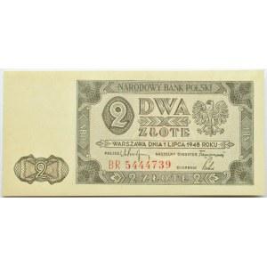 Polska, RP, 2 złote 1948, seria BR, UNC