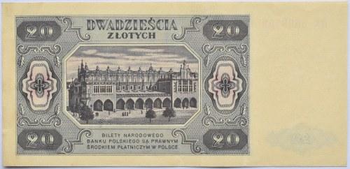 Polska, RP, 20 złotych 1948, seria HK, Warszawa