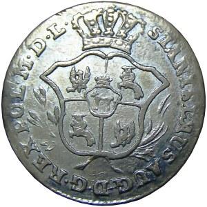 Stanisław A. Poniatowski, 2 grosze srebrne (półzłotek) 1769 I.S., Warszawa