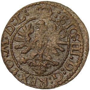 Zygmunt III Waza, szeląg 1623, Wilno, odmiana z R w napisie otokowym