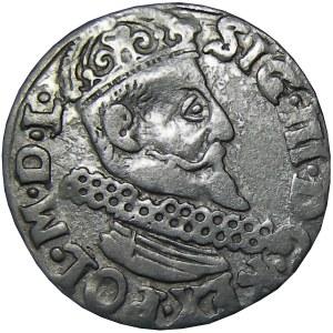 Zygmunt III Waza, trojak 1622, Kraków, odsunięta głowa króla od kryzy