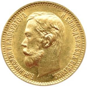 Rosja, Mikołaj II, 5 rubli 1902 AP, Petersburg, UNC