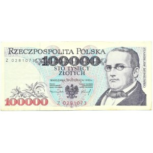 Polska, 100000 złotych 1993, seria Z, Warszawa