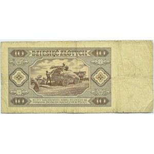 Polska, RP, 10 złotych 1948, seria AN