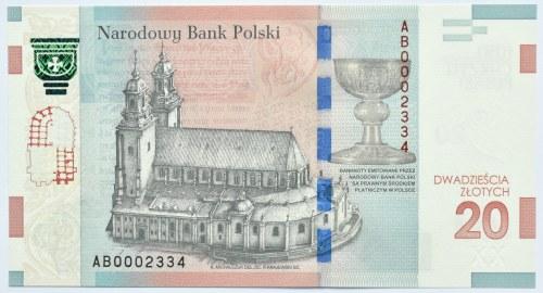 Polska, 1050-lat Chrztu Polski, 20 złotych 2015, Warszawa, UNC