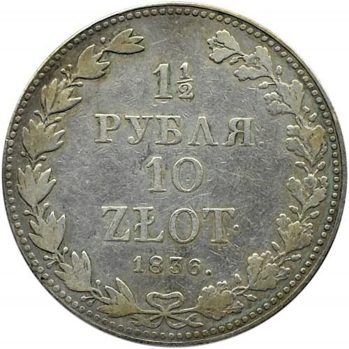 Mikołaj I, 1 1/2 rubla/10 złotych 1836, Warszawa