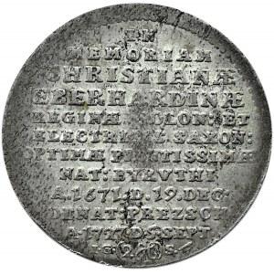 August II Mocny, 2 grosze 1727, śmierć żony króla Krystyny Eberhardyny, Drezno