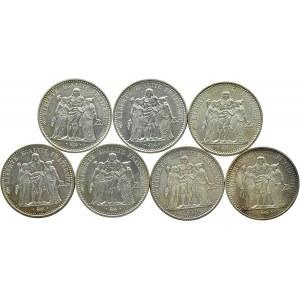Francja, Republika, lot 10 franków 1966-1972 A, Paryż, UNC
