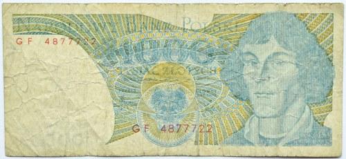 Polska, PRL, 1000 złotych 1982, seria GF, destrukt bez nadruku głównego