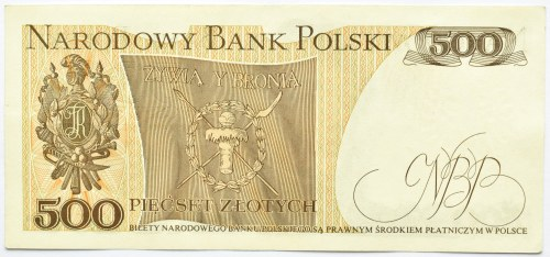 Polska, PRL, 500 złotych 1976, seria AE, Warszawa