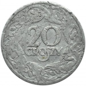 Polska, II RP, 20 groszy 1923, falsyfikat z epoki, bardzo rzadkie!