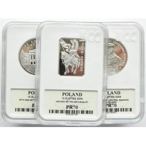 Polska, III RP, Kompletny rocznik 2009 - całość GCN MS70, Warszawa, UNC