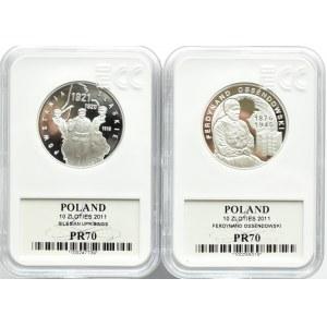 Polska, III RP, Kompletny rocznik 2011 - GCN MS70, oksydowana MS68, UNC
