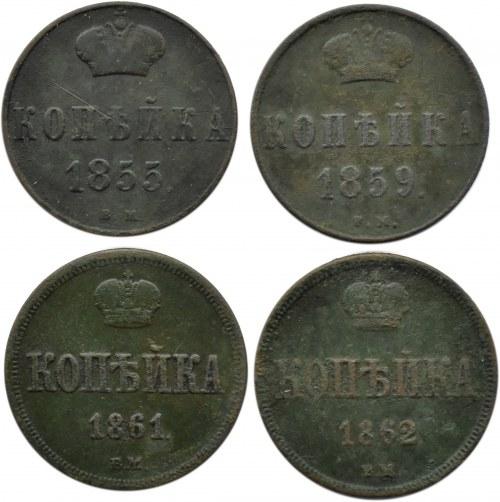 Aleksander II, lot kopiejek 1855-1861 B.M., Warszawa