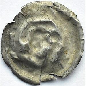 Brakteat, głowa księcia, II połowa XII wieku