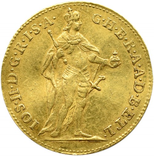 Austria, Józef II, dukat 1781, Kremnica, ładny i rzadki