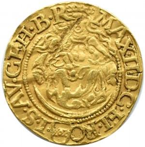 Austria, Węgry, Maksymilian II, dukat 1577 KB, Kremnica