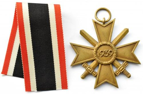 Niemcy, III Rzesza, Krzyż Zasługi Wojennej za rok 1939 z mieczami, wstążka, klasa II, Grossmann&Co