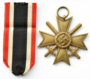 Niemcy, III Rzesza, Krzyż Zasługi Wojennej za rok 1939 z mieczami, wstążka, klasa II, R.Leukert
