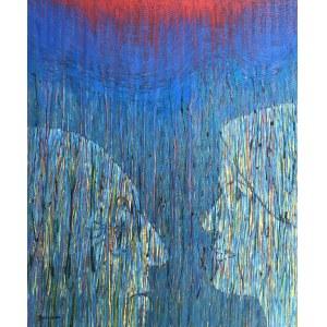Jolanta Johnsson (ur. 1955), Rozmowa w deszczu, 2020