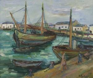 Epstein Henryk, ŁODZIE W PORCIE, OK. 1930