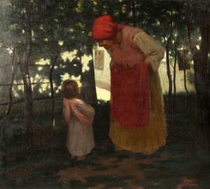 Leon Bigosiński (1871-1928), W zaciszu wiejskiem, 1912 r.