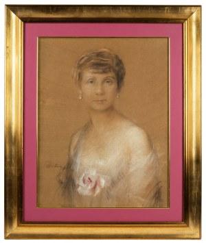 Teodor Axentowicz (1859 Braszów/Rumunia - 1938 Kraków), Portret kobiety